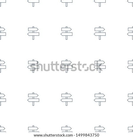 direction icon pattern seamless white background. Editable line direction icon. direction icon pattern for web and mobile.