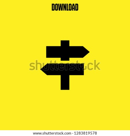 direction icon vector. direction vector graphic illustration