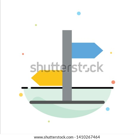 Direction, Logistic, Board, Sign Abstract Flat Color Icon Template Zdjęcia stock ©