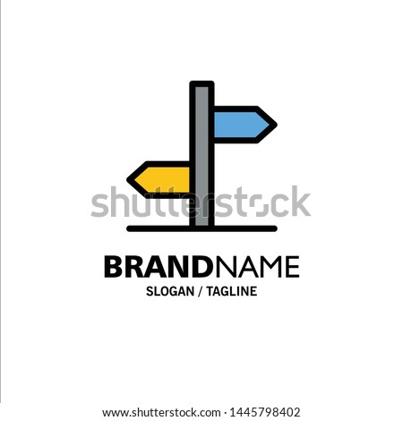 Direction, Logistic, Board, Sign Business Logo Template. Flat Color Zdjęcia stock ©