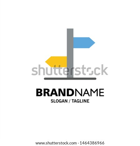Direction, Logistic, Board, Sign Business Logo Template. Flat Color. Vector Icon Template background Zdjęcia stock ©