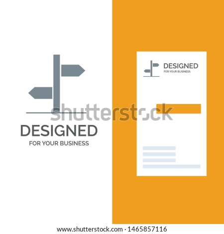 Direction, Logistic, Board, Sign Grey Logo Design and Business Card Template. Vector Icon Template background Zdjęcia stock ©