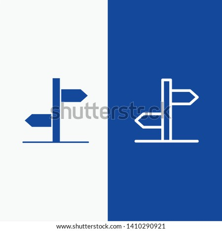 Direction, Logistic, Board, Sign Line and Glyph Solid icon Blue banner Line and Glyph Solid icon Blue banner Zdjęcia stock ©