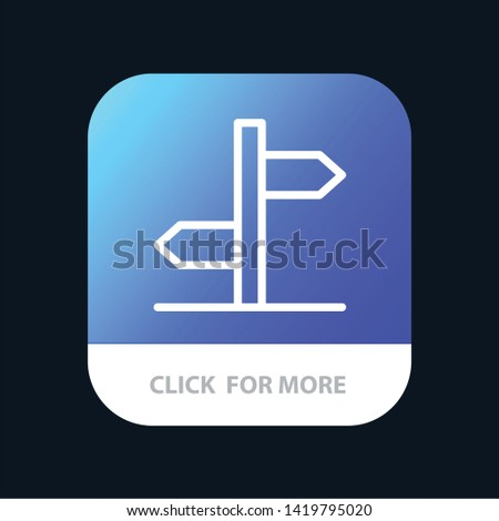 Direction, Logistic, Board, Sign Mobile App Button. Android and IOS Line Version Zdjęcia stock ©