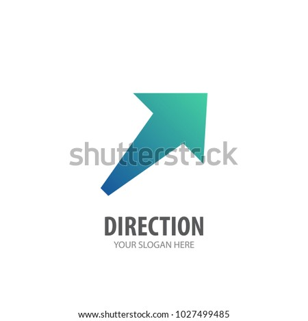 Direction logo for business company. Simple Direction logotype idea design. Corporate identity concept. Creative Direction icon from accessories collection.