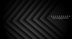 Direction of abstract gray arrow shadows. abstract on the black background of futuristic modern design