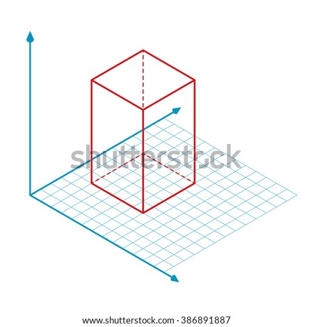 direction of x y and z axis vector  Stok fotoğraf ©