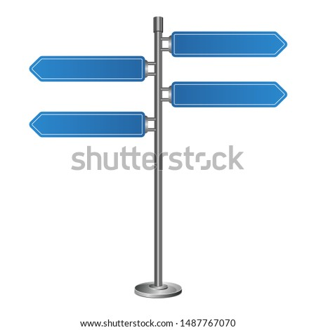Direction road sign vector design illustration isolated on white background