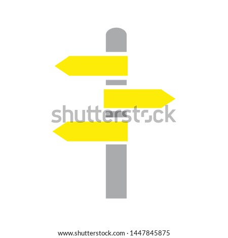 direction sign icon. Logo element illustration. direction sign design. colored collection. direction sign concept. Can be used in web and mobile