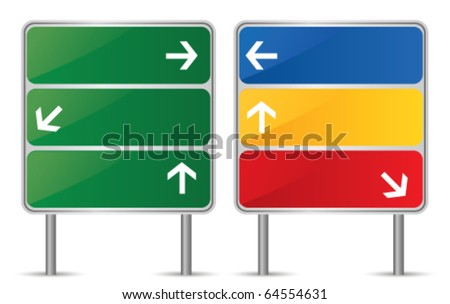 Direction sign. Vector