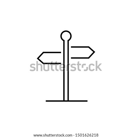 Direction signpost icon, vector design template