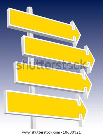 Direction signs good for message and price.