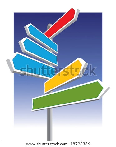 Direction signs good for message and price. - stock vector