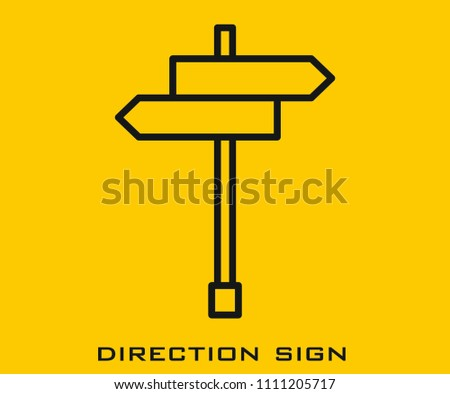 Direction signs icon #1111205717