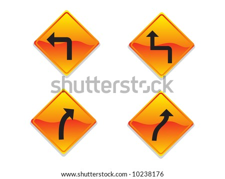 Direction Signs Vector Illustration