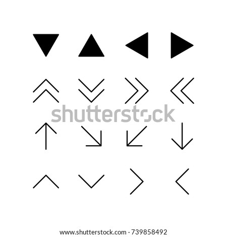 Directional and double arrows icon set