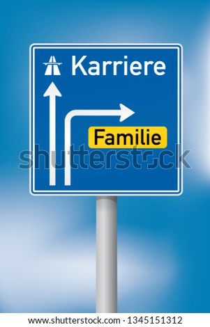 directional motorway sign with