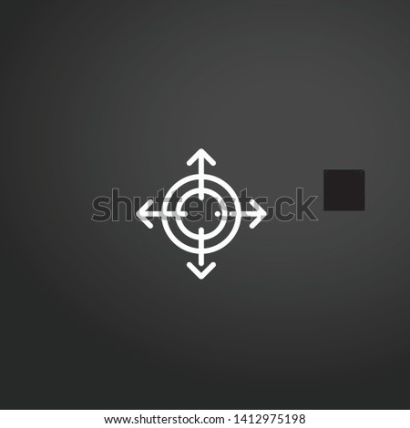 Directional vector icon. Directional concept stroke symbol design. Thin graphic elements vector illustration, outline pattern for your web site design, logo, UI. EPS 10.