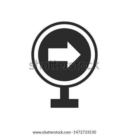 directions sign icon vector design template