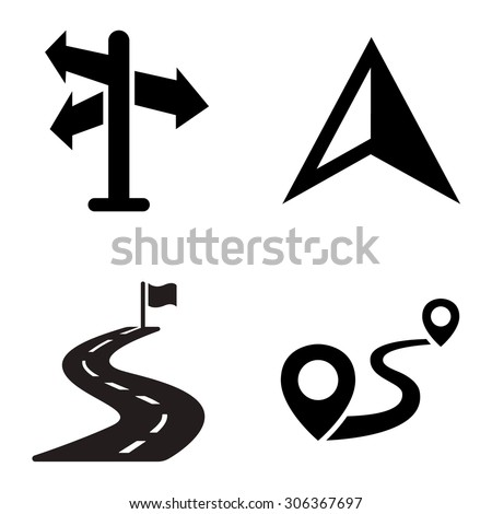 Directions vector icons