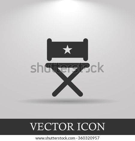 Director chair icon. Flat design style eps 10