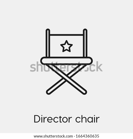 director chair icon vector. Linear style sign for mobile concept and web design. director chair symbol illustration. Pixel vector graphics - Vector.