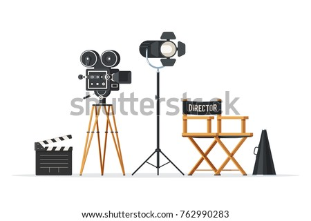 director chair  movie camera...