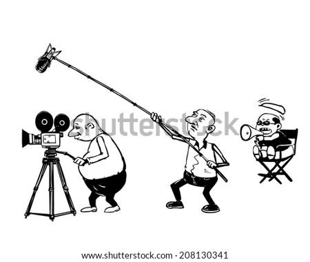 director sound recorder and cameraman