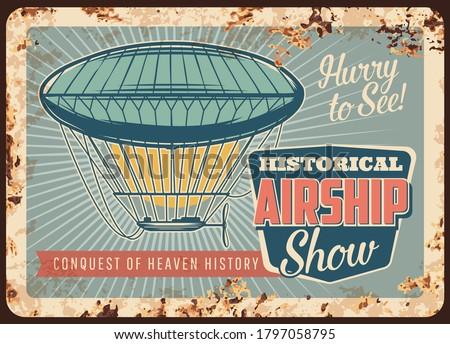 dirigible airship rusty metal