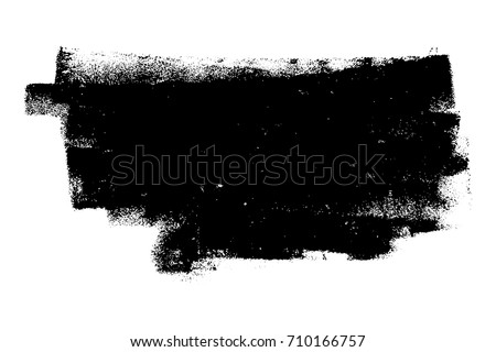 Dirtty isolated basis. Artistic messy banner background. Paint roller distress overlay texture. Grunge design element. EPS10 vector.