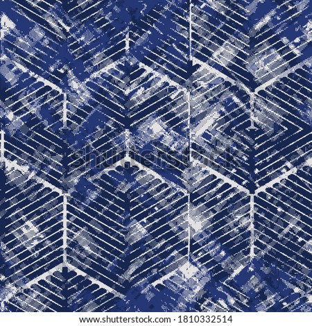 Dirty Bleach vector  Background. Watercolor Pattern Dark Bleached Hard Grunge Boho Tie Dye. navy  Trendy Fashion Bleach Print. Retro Shibori Watercolor. Watercolor Craft Paint Art. Watercolor