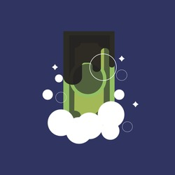Dirty money, laundering of money. Vector - illustration