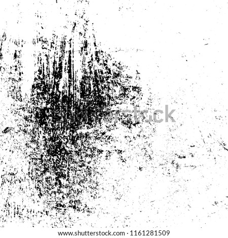 Dirty powder rough empty cover template. Distressed spray grainy overlay texture. Grunge dust messy background. Aged splatter crumb wall backdrop. Weathered drips aging design element. EPS10 vector.