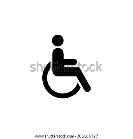 disabled black simple vector