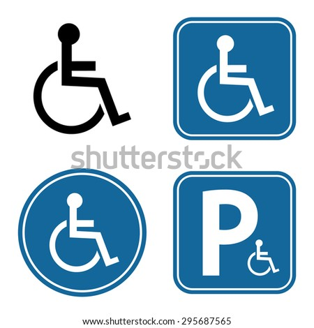 Disabled Handicap Icon Set