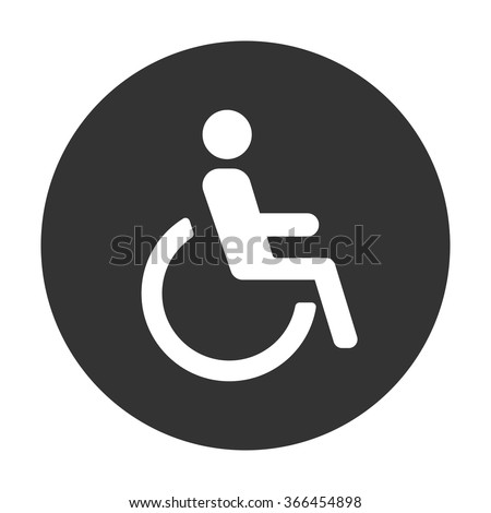 Disabled icon Vector Illustration on the white background.
