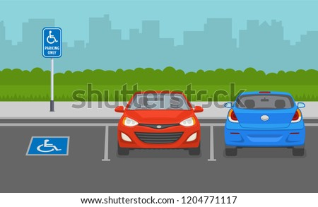 disabled parking area front