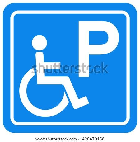 disabled parking symbol sign
