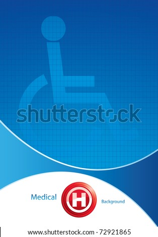 Disabled persons supporting hospital template - medical background