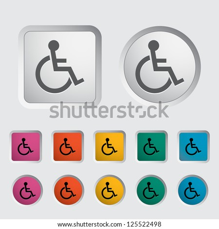 Disabled single icon. Vector illustration.