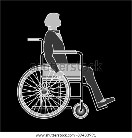 disabled, vector