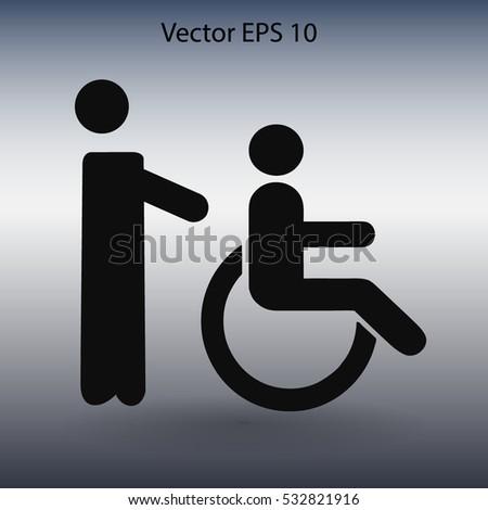 Disabled vector illustration