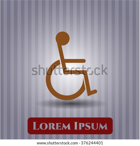 Disabled (Wheelchair) icon vector illustration