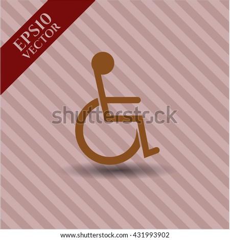 disabled wheelchair icon vector symbol flat eps jpg