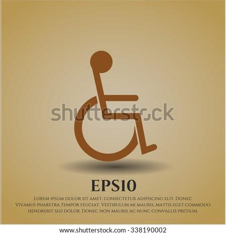 Disabled (Wheelchair) vector icon