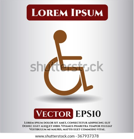 Disabled (Wheelchair) vector icon or symbol