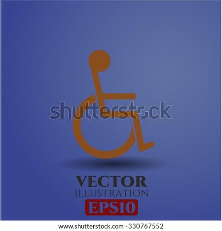 Disabled (Wheelchair) vector symbol