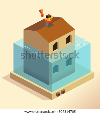 disaster flooding house