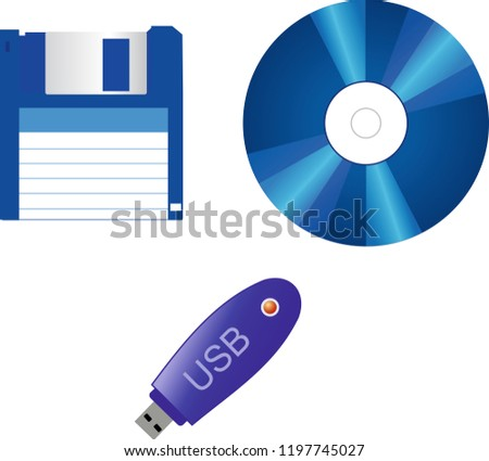 disc flash drive diskette