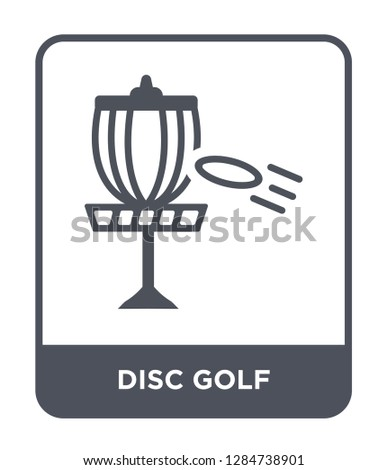 disc golf icon vector on white background, disc golf trendy filled icons from Summer collection, disc golf vector illustration